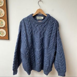 Aran Crafts Wool Fishermen Sweater Made In Ireland